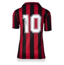 Ruud Gullit atrás Firmado Retro Ac Milan Camiseta autógrafo Jersey Hogar