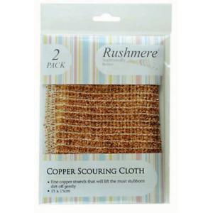 Rushmere 2 Pack Copper Scouring Cloth - 15x15cm - Clean,Scrub.