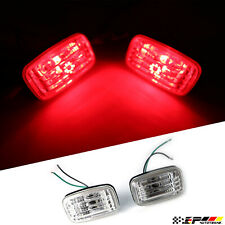 Fit for Land Cruiser LC80 FJ80 4500 Crystal Clear  Bumper Red LED Marker Lights