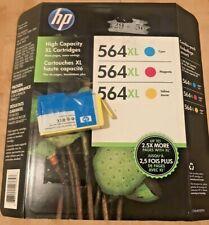HP 564XL Cyan Magenta Yellow Combo Pack Ink Cartridge CN648BN New Sealed