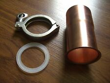 """Easy Moonshine Still Beer Keg 2"""" Copper Pipe Column Adapter Tri Clamp alcohol"""
