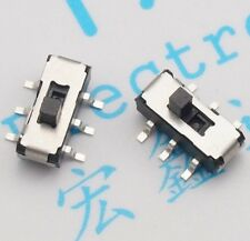 10PCS MSS22D18D Slide Switch Toggle Switch 2P2T 2 Files 6 Feet DVD Switch SMD 6P