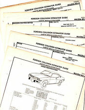 1973 1974 MAZDA RX4 SEDAN HARDTOP WAGON ORIGINAL BODY PARTS CRASH SHEETS  MF2