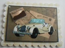 PK 2 CARTOGRAPER POSTCARD BIRTH DAY EMBELLISHMENT TOPPERS FOR CARDS AND CRAFTS