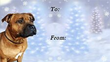 Staffordshire Bull Terrier Xmas Labels by Starprint-No3