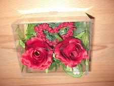 Dekoration Deko Rosenblüten Rosennest  Rosenherz Hochzeit Valentinstag Liebe