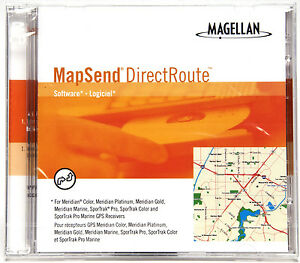 Magellan Mapsend Direct Route Mapping Software For Meridian & Sportrak Models