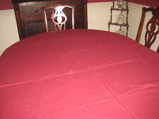 Ralph Lauren Large Tablecloth in Deep Wine Burgundy 56x110 New ON SALE