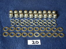 Vespa PX/T5/P, Stainless Steel Wheel Domed Nuts And Washers Complete Set