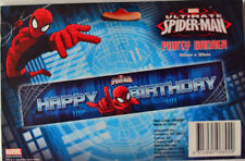 SPIDERMAN PARTY SUPPLIES PARTY BANNER 150 x 30 CM FREE POSTAGE