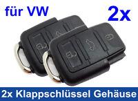 2x 3Tasten Gehäuse für VW Volkswagen Klappschlüssel Schlüssel Funk Ersatz