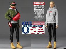 "1/6 Street Style Flight Jacket Set F-076 For 12"" PHICEN Female Figure USA"