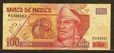 MEXICO 100 pesos 26-3-2002 P118b VF Nezahualcoyotl / statue