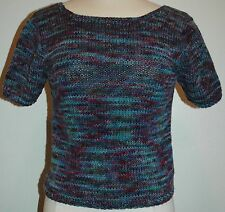 Vintage Tye-Die Hand Knit Short Sleeved Sweater