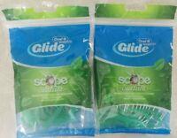 2 Pack Oral-B Glide Complete Scope Outlast Dental Floss Picks Mint 75 Count Each