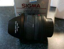 Sigma Lens 24mm F/2.8 Manual Focus For Minolta In Box 52mm