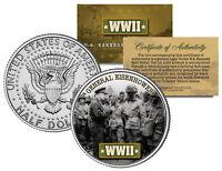 World War II GENERAL EISENHOWER JFK  Kennedy Half Dollar US Coin