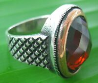 925 sterling silver Oval CZ ,Red agate, BlackOnyx , Tiger Eye  SOLID Men's ring