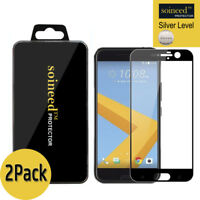 [2-Pack] SOINEED FULL COVER Tempered Glass Screen Protector For HTC 10 / M10 BK