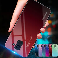 For Samsung Galaxy J8 J6 J4 Plus Shockrpoof Gradient Tempered Glass Case Cover