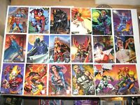 1996 FLEER AMALGAM MARVEL VS DC BASE 90 CARD SET! WOLVERINE! BATMAN! DARKCLAW!