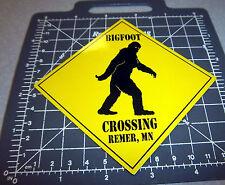 Bigfoot Crossing fridge Magnet, Remer Minnesota, bigfoot capital of Minnesota!