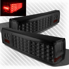For Smoked 87-93 Ford Mustang LED Tail Lights Pair Smoke Lamp New Left+Right