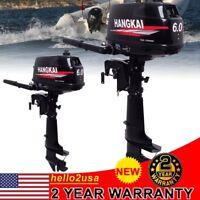 4.4KW 6HP 2Stroke Outboard Motor Tiller Shaft Boat Engine Water Cooling System