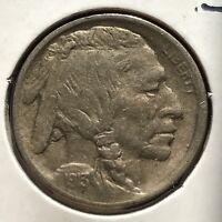 USA 1913 Buffalo Nickel Type 1 Philadelphia 5 Cent Gute Erhaltung Selten #11038