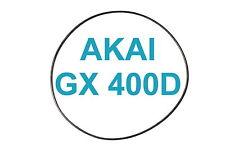 SET CINGHIE AKAI GX 400D REGISTRATORE A BOBINE BOBINA NUOVE FRESCHE GX400D 400 D