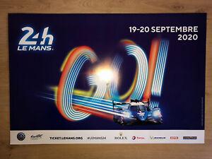Tres Rare Affiche Officielle 24 Heures Du Mans 19-20 Septembre 2020