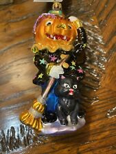 New Listingchristopher radko halloween ornament Sweeps Mcbroom Pumpkin Witch Cat Scarecrow