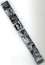 Glasmosaik Bordüre Borde schwarz silber grau 3,2 x 30,4 x 0,8cm Bad Küche Dusche