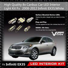 8pcs White LED bulb Interior Package Kit fit 2008-2012 Infiniti EX35