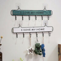 Wooden Wall Mount Key Holder Wall Home Organizer I LOVE Hanger Rack Storage Box