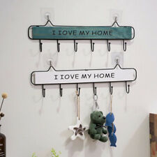 Wooden Wall Mount Key Holder Wall Home Organizer I LOVE Hanger Rack Storage Box