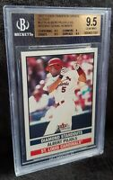2002 Fleer Tradition Update Glossy Diamond Standouts /200 Albert Pujols BGS 9.5