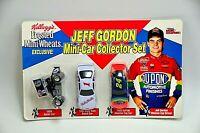 Jeff Gordon 1994 Kelloggs Frosted Mini Wheats 3 Diecast Car 1:64 Promo Set NOS