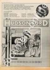 Hudson-Ford Strawbs Nickelodeon Usher Hall, Edinburgh MM3 LP/Tour advert 1973