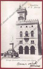 SAN MARINO 57 REPUBBLICA DI SAN MARINO Cartolina viaggiata (1906 ?)