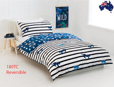 Aus Qlty REVERSIBLE Jungle Print Single Bed Doona/Quilt Cover Set 180TC