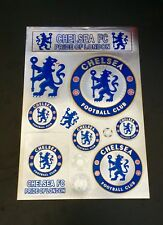 Chelsea FC Stickers Set A4 Size Great For Car/Window /Home Use