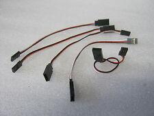 5x Verlängerung Kabel Futaba/ Graupner Stecker Servo RC 1:4, 1:5, 1:6 Großmodell