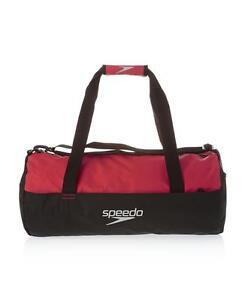 Speedo Duffel Bag Black Red 30L Gym Swim Sports Bag