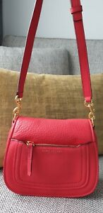 Marc JACOBS Mini Empire City Red Leather Messenger Bag