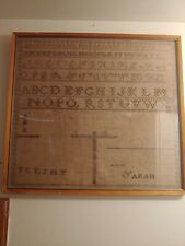 antique, vintage alphabet cross stitch sampler pre 1930 17x18
