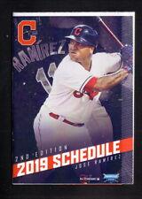 Cleveland Indians--Jose Ramirez--2019 Pocket  Schedule--WBTC/Blooms