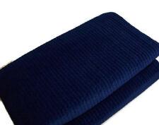 Pottery Barn Navy Twilight Blue Velvet Channel Full Queen Quilt 2 Standard Shams