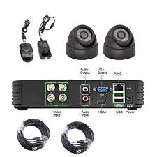4CH 4Channel DVR 1200TVL Indoor Home CCTV Surveillance Security Camera System
