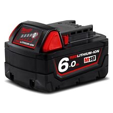 MILWAUKEE M18B6 18V M18 6.0AH RED LITHIUM ION BATTERY 48-11-1860 18 VOLT LI-ION